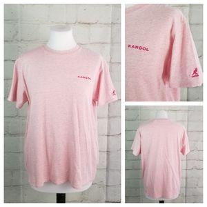 Kangol L Heather Pink Short Sleeve T-Shirt Tee
